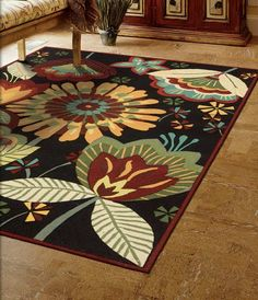 okay this is it, floral rug...dining and no buts!  it's mine!