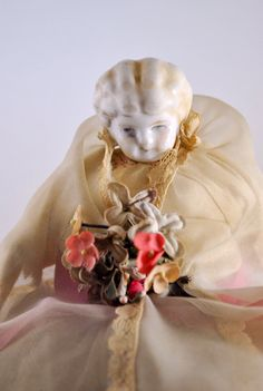 Vintage Pin Cushion half doll by WhositsandWhatnots on Etsy,
