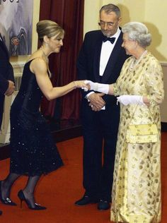 Pin for Later: When Worlds Collide: Celebrities Mingle With Royals  The queen of pop, Madonna, met the Queen of England at the November 2002 world premiere of Die Another Day in London.