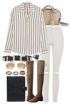 """Untitled #7654"" by nikka-phillips ❤ liked on Polyvore featuring Ray-Ban, Fendi, B-Low the Belt, Topshop, Frame Denim, Stuart Weitzman, Chanel, Forever 21 and Mudd"