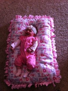 Infant Tie Pillow Bed by bbaggiolini on Etsy, $25.00