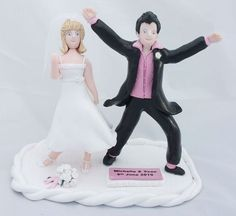 Hilarious Dancing Funny Wedding Cake Toppers | Wedding Photos - Pictures by WeddingsofJoy.com