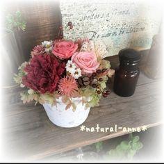 フレンチ*アンティーク プリザーブドフラワーローズと薔薇