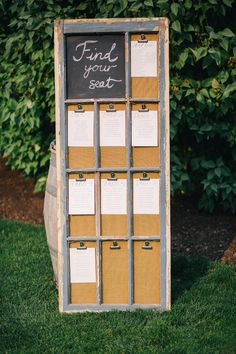 old window pane clipboard escort cards: Bridal Bliss Wedding