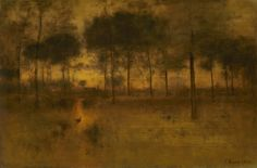 George Inness 'The Home Of The Heron' Canvas Art Trademark Fine Art Google Art Project, Hudson River School, Prince, Classic Artwork, Landscape Artwork, Artwork Images, Painting Gallery, Art Institute Of Chicago, Art Reproductions