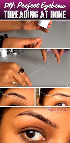 DIY Eyebrow Threading To Beautify Your Eyebrows Instantly!