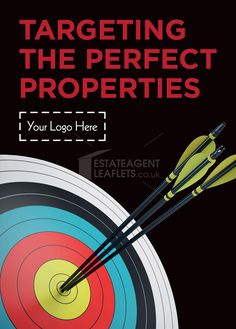 Targeting the perfect properties  Product Code: E2107 Browse through hundreds of Estate Agent design templates! Visit our website for more information! #leaflet #estateagentleaflets #estateagents