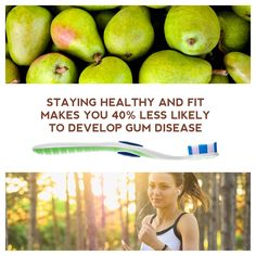 ALONG WITH DAILY brushing and flossing, staying healthy and fit is an essential part of preventing gum disease! #dfcadent #dentistry #brushandfloss #stayinghealthy