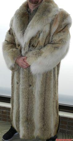 The Hudson Mid Length Black Fox Fur Coat for Men | Fox fur coat ...