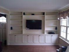 Built-In with Wall Hung TV - Traditional - Living Room - philadelphia - by A-K Custom Interiors