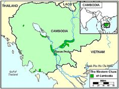 Pray / Cham, Western, Cambodian of Cambodia map