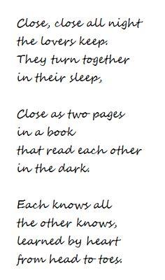 Lesbian American Pulitzer winning poet Elizabeth Bishop ~ Close, close all night
