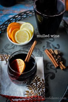 Mulled red wine - YUM! Add 3 anise stars and 2-3 apples (sliced/diced) and save them for later to eat hot with vanilla ice cream