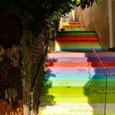 more painted stairs