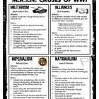*** WWI - M.A.I.N. Causes (Student Handout/Reference) $1.50 *** An excellent resource for middle and high school history courses studying the M.A.I.N. causes of WWI.