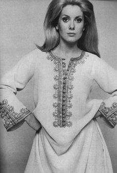 Catherine Deneuve Vogue 1966, Vintage Caftan #inspiration #arab #fashion