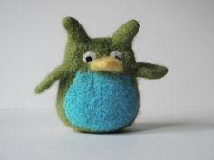 Mini owl stuffed animal ornament. $16.00, via Etsy.