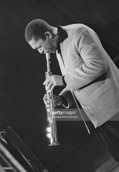 Photo d'actualité : Jazz saxophonist John Coltrane performs onstage...