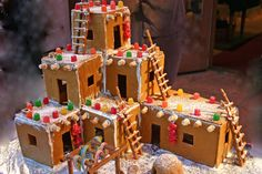 Santa Fe. Every year create a gingerbread house with the little ones from one of the years trips. Could be a cabin you stayed in, a beautiful building you saw etc...