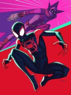 Miles Morales & Prowler - Kris Anka Marvel Art, Marvel Comics, Ms Marvel, Captain Marvel, Captain America, Comic Books Art, Book Art, Miles Morales Spiderman, Wolverine Art