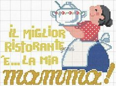 0 point de croix mamma cooking - cross stitch