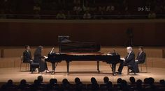 Argentine pianist Martha Argerich and the Brazilian pianist Nelson Freire perform Sergei Rachmaninoff's Suite No. 2, Op. 17, a composition for two pianos.