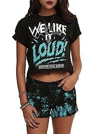 HOTTOPIC.COM - Sleeping With Sirens We Like It Loud Girls Crop Top