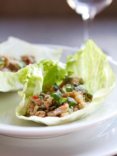 Asian Chicken Lettuce Wraps http://withstyleandgraceblog.com/2013/06/07/steamy-kitchens-healthy-chicken-lettuce-cups/