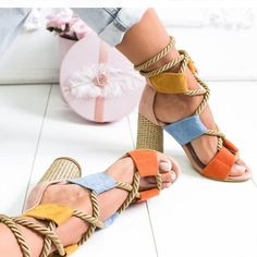 Women Sandals Lace Up Summer Shoes Woman Heels Sandals Pointed Fish Mouth Gladiator Sandals Woman Pumps Hemp Rope High Heels Gladiator Sandals Heels, Lace Up Sandals, Women Sandals, Shoes Women, Trendy Sandals, Woman Shoes, Lace Up High Heels, Chunky High Heels, Bohemian Sandals