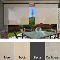 Keystone Fabrics Energy Saving Cord Operated Outdoor Solar Shade (Maui Wide X Length), Black (Acrylic, Abstract) Outdoor Décor Outdoor Shade, Patio Shade, Exterior Shades, Solar Fan, Advantages Of Solar Energy, Solar Shades, Solar Panels For Home, Shades Blinds, Diy Solar