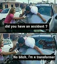 Well then Auto-Bots! Let's roll!...| #Funny #Transformers #Pictures #Memes