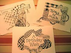 Card Ideas Doodle Inspiration Artist Zentangles Stiles Creative Greeting Cards