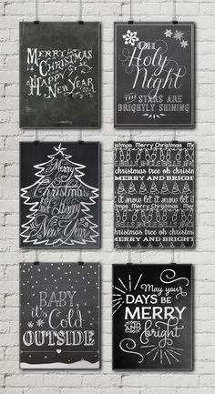 12 Free Christmas Chalkboard Printables • Little Gold PixelLittle Gold Pixel
