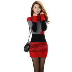 349cc2f65ac Woman Winter Dress 2018 Knitted Dress Turtleneck Long Sleeve Women Sweater  Dress Sweaters and Pullovers Plus Size Women Clothing-in Dresses from  Women's ...