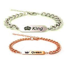 couples bracelets,her queen his king bracelet(2pcs).His And Her Bracelets,bracelet for couples