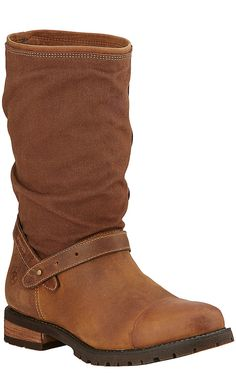 Ariat Chatsworth H20 Women's Shetland Brown with Canvas Upper Round Toe Boots | Cavender's