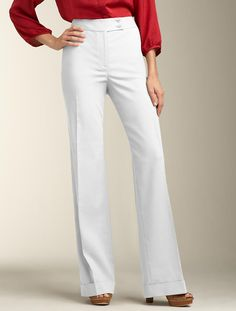 Talbots - Hollywood Fit Linen Blend Pant
