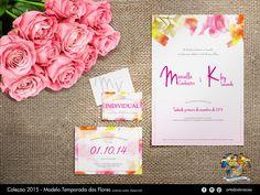 Convite de casamento composto por convite individual, R.S.V.P, menu e placa de reserva de mesa.  #invitation, #wedding #flower #spring  #love #convite #casamento #delicado #noiva #primavera
