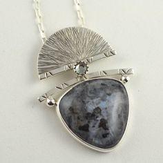 Moonstone Pendant Metal Jewelry by DeborahCloseDesigns on Etsy
