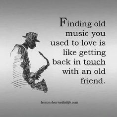 Finding old music you love is like getting in touch with an old friend Music Lyrics, Music Quotes, Me Quotes, Music Sayings, Affirmations, Old Music, Music Music, First Love, My Love
