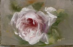 Homage to an Artist by Andrea Dern Oil ~ x Dennis Miller, Rose Paintings, Painted Flowers, Impressionism Art, Pansies, Cat Art, Peony, Flower Art, Sculpture Art