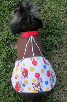 Flannel Dog Dress Made to Order for by BloomingtailsDogDuds, $23.95