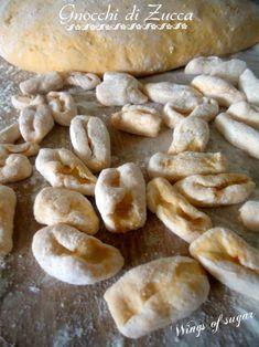 Gnocchi di zucca fatti in casa ricetta senza uova - ricetta semplice per gustare un piatto di gnocchi di zucca fatti in casa - wings of sugar blog