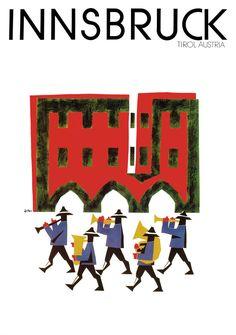"Plakat ""Blasmusik"" 1992 Format 61 x 86cm · erster Preis bei Tourismus Kongress in Mailand · € 35,-"