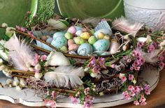 EASTER CENTERPIECE IDEAS | Easter+centerpieces,+Easter+tree,+Easter+egg+decorating,+Easter+decor ...