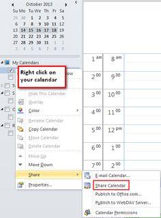 Outlook - Share calendar