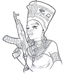 African Warrior Tattoos, African American Tattoos, African Tattoo, Tattoo Design Drawings, Tattoo Sleeve Designs, Tattoo Sketches, Skull Tattoo Design, Gangsta Tattoos, Dope Tattoos