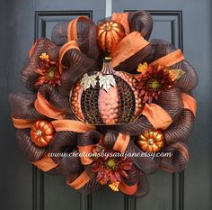 Spooky Halloween Wreath Mesh Halloween by CreationsbySaraJane