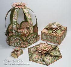Candy basket, Square box & Invitation