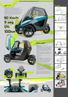 Industrial design at UCSF on Behance Microcar, Electric Trike, Electric Cars, Tricycle Bike, Concept Motorcycles, Reverse Trike, Car Design Sketch, High Tech Gadgets, Smart Car
